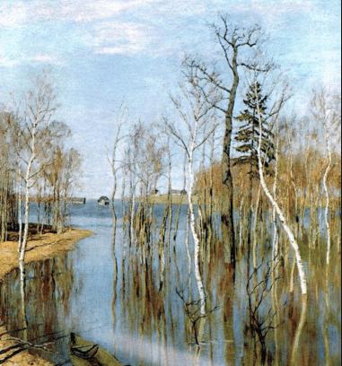 Весна. Большая вода. Левитан