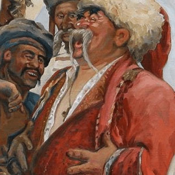 Фрагмент картины Запорожцы пишут письмо турецкому султану 2
