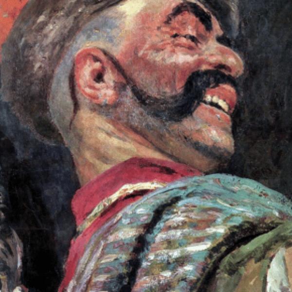 Фрагмент картины Запорожцы пишут письмо турецкому султану 3